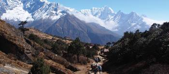 Trekking above Namche Bazaar in the Everest region | Jake Hutchins