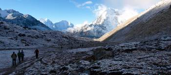 Trekking between Lobuche and Gorak Shep on the Everest High Passes Trek | Gavin Yeates