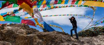 Capturing the colour and movement of prayer flags | Richard I'Anson