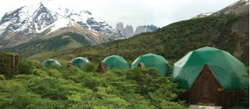 Vibrant scenery across Patagonia Eco Camp domes